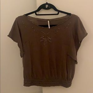 Free People Brown Shirt - size small